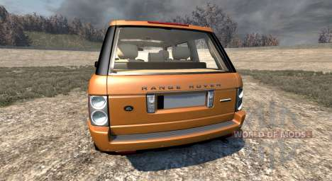 Range Rover Supercharged 2008 [Orange] pour BeamNG Drive