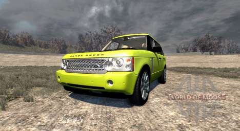 Range Rover Supercharged 2008 [Yellow] pour BeamNG Drive
