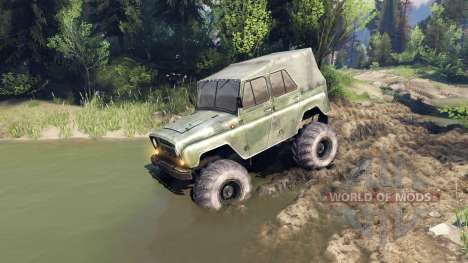 УАЗ-469 Monster Truck v3 pour Spin Tires