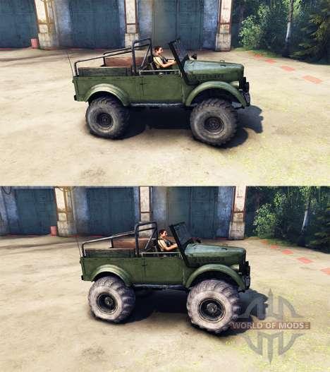 GAZ-M pour Spin Tires