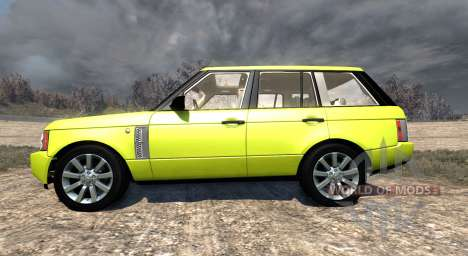Range Rover Supercharged 2008 [Yellow] für BeamNG Drive