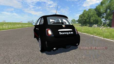 Fiat 500 Abarth Black pour BeamNG Drive
