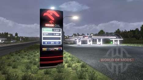 Die Europäische Tankstellen für Euro Truck Simulator 2