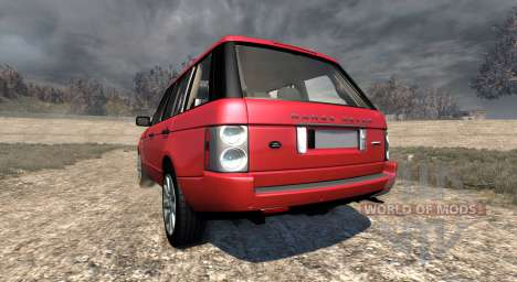 Range Rover Supercharged 2008 [Red] für BeamNG Drive