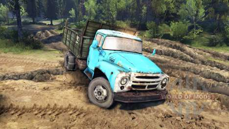 Der Automobil-ZIL-MMZ-4502 für Spin Tires