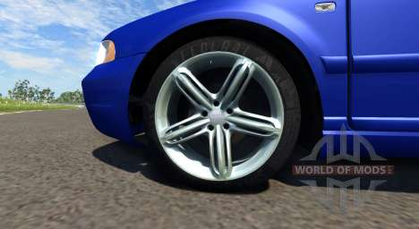 Audi S4 2000 [Pantone Reflex Blue C] pour BeamNG Drive