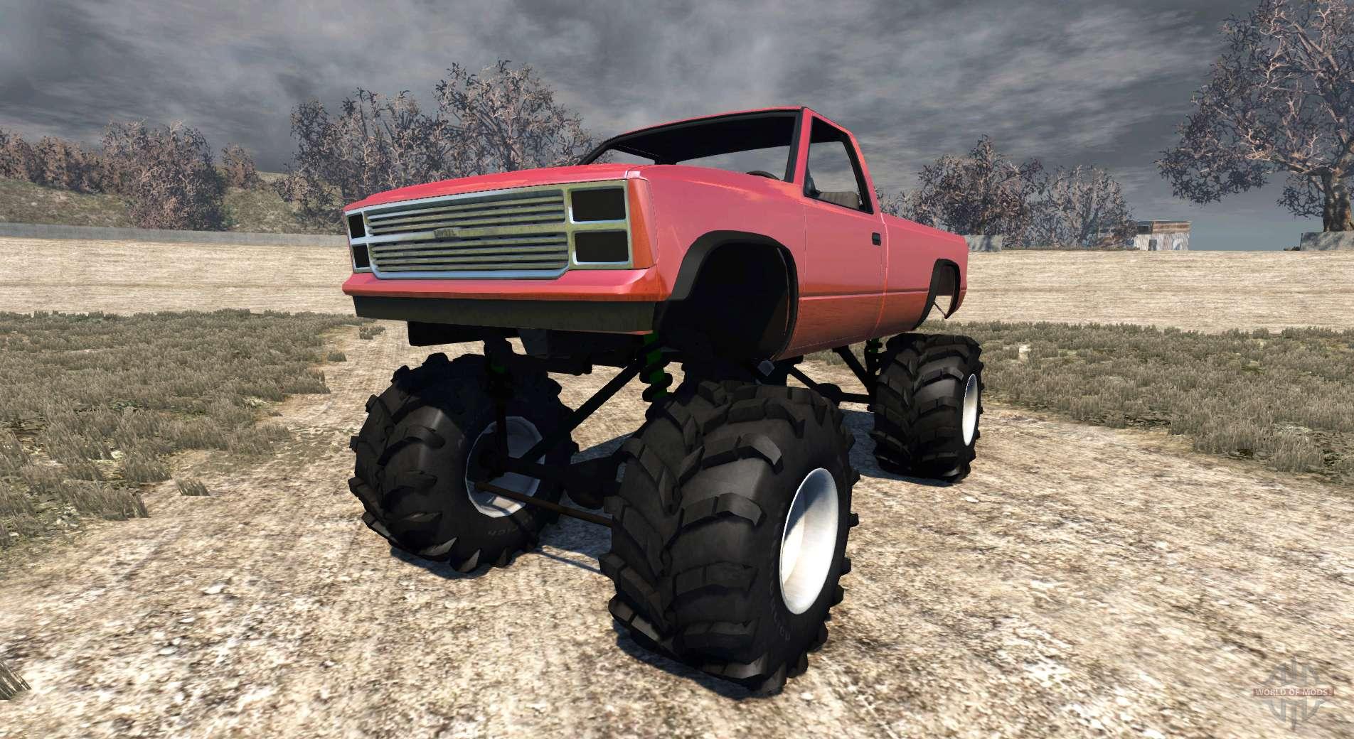Gavril D Series Monster Truck V2 Pour Beamng Drive