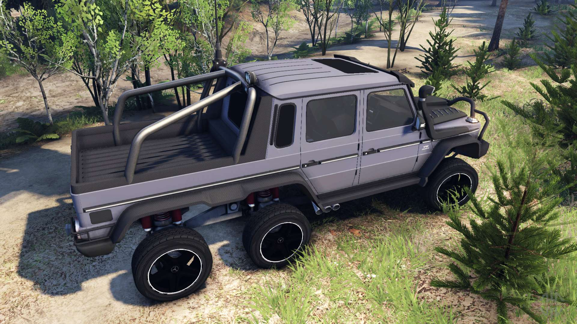 Mercedes Benz G65 Amg 6x6 Ultimate F 252 R Spin Tires