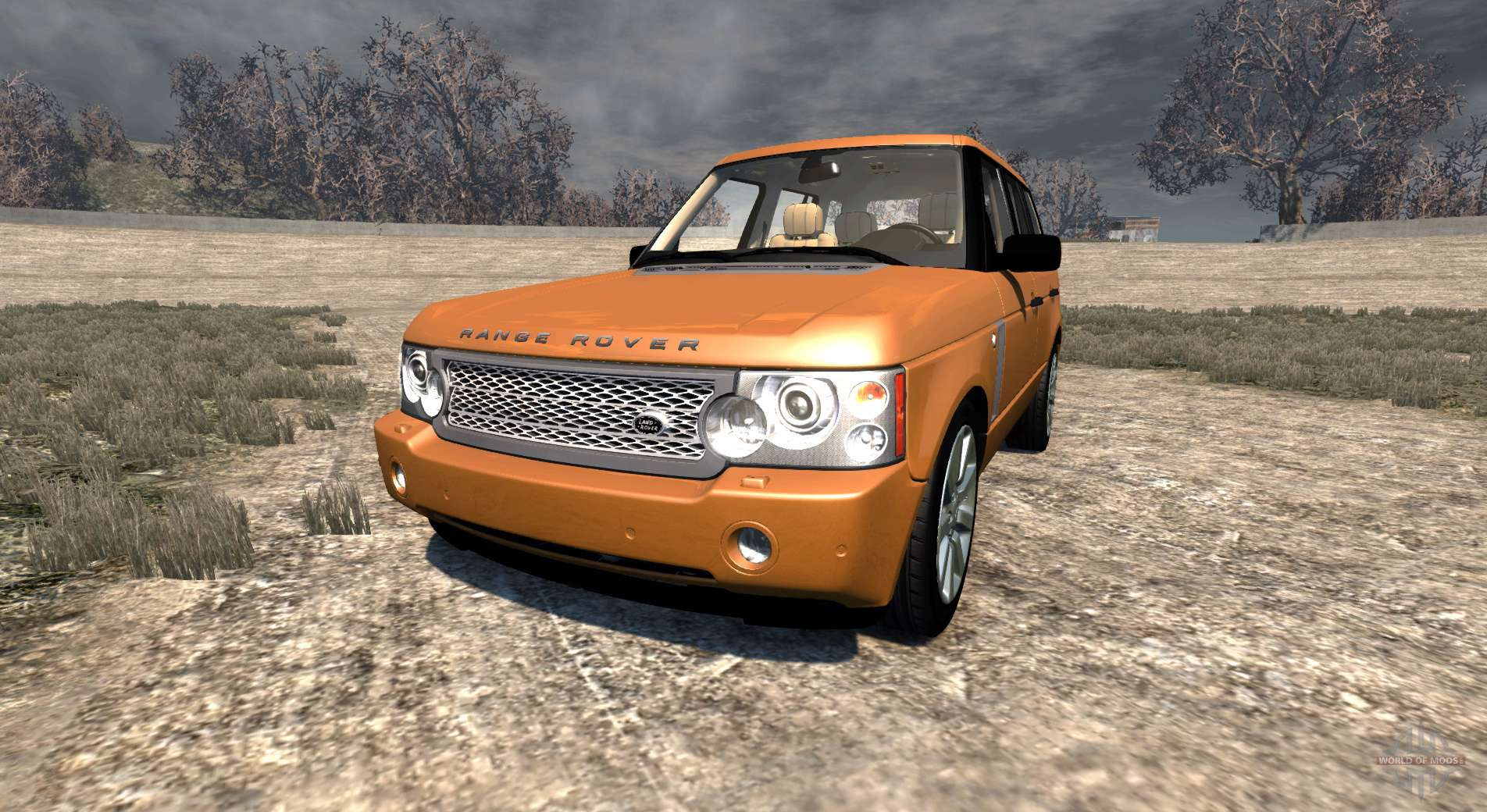 range rover supercharged 2008 orange pour beamng drive. Black Bedroom Furniture Sets. Home Design Ideas