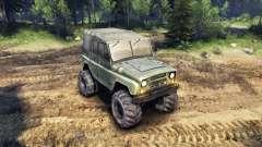 L'UAZ-469 avec de nouvelles roues
