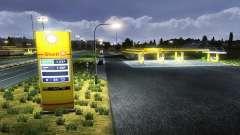 Die Europäische Tankstellen