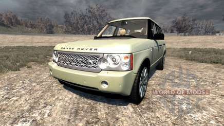 Range Rover Supercharged 2008 [Beige] pour BeamNG Drive
