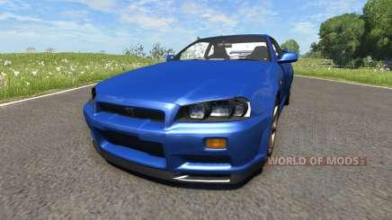 Nissan Skyline R34 für BeamNG Drive