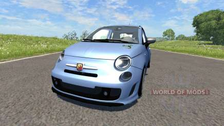 Fiat 500 Abarth Blue pour BeamNG Drive