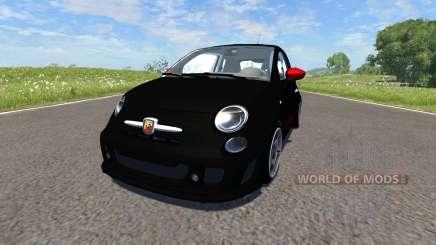 Fiat 500 Abarth Black für BeamNG Drive