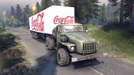 Semi-Coca-Cola pour Spin Tires