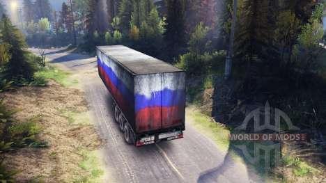 Semi-Remorque Russie pour Spin Tires