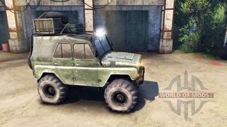 Modernisé UAZ-469 v1.1 pour Spin Tires