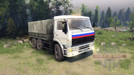 KamAZ camionneur pour Spin Tires