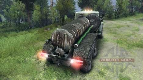 Tank-LKW für Spin Tires