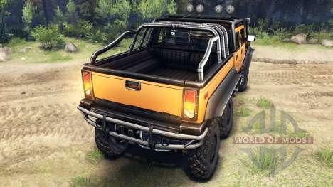 Hummer H2 SUT 6x6 für Spin Tires