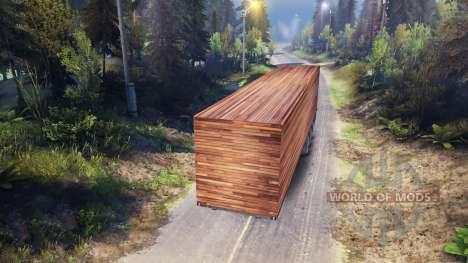 Remorque en bois pour Spin Tires