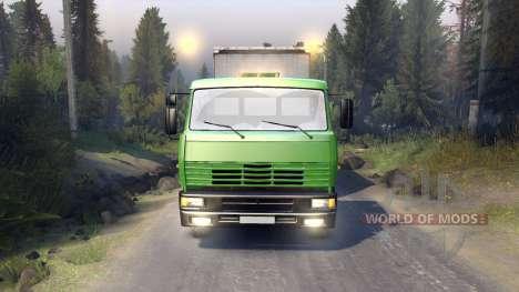 KamAZ-6522 in grüner Farbe für Spin Tires