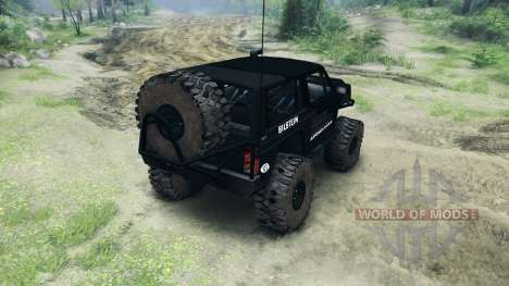 Jeep Cherokee XJ v1.1 Rough Country black pour Spin Tires