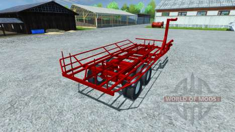 Die Abholung der Rundballen für Farming Simulator 2013