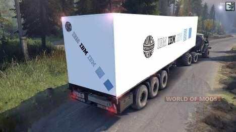 Semi-remorque IBM pour Spin Tires