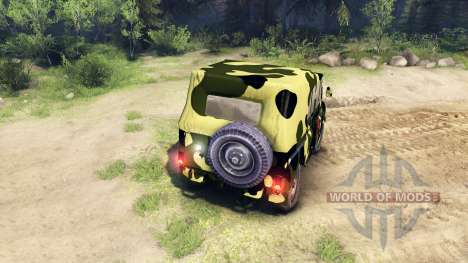 Camouflage UAZ pour Spin Tires