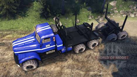 KrAZ-255B dans la couleur bleu-KrAZ d'Alimentati pour Spin Tires