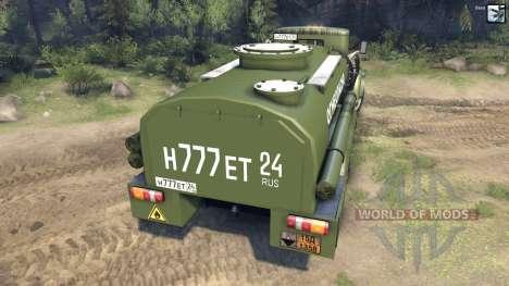 KrAZ-255B AC 8.5 Brennbar für Spin Tires