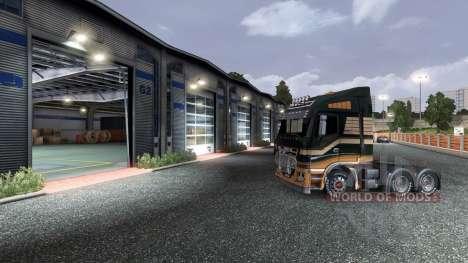 Auparavant, ouverture de porte de garage pour Euro Truck Simulator 2