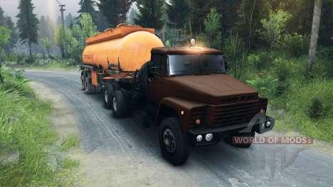 KrAZ-6437 CabCol v1 pour Spin Tires