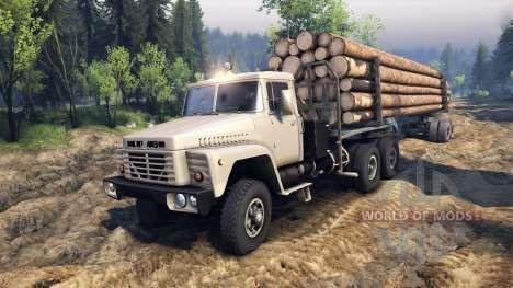 KrAZ-6437 CabCol v2 pour Spin Tires