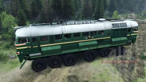 La Locomotive Diesel De La M62 pour Spin Tires