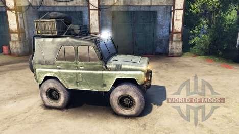 Modernisiert UAZ-469 v1.1 für Spin Tires