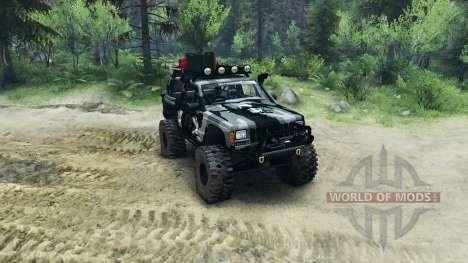 Jeep Cherokee XJ v1.1 Camo pour Spin Tires