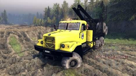 KrAZ-255B in eine gelbe Farbe-KrAZ 88- für Spin Tires