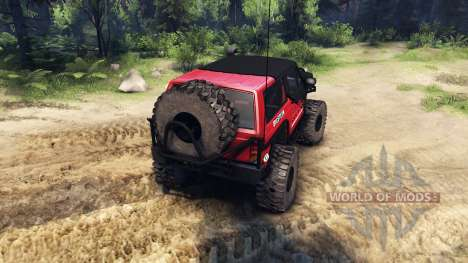 Jeep Cherokee XJ v1.1 Rough Country red clean pour Spin Tires