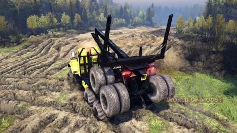 KrAZ-255B d'une couleur jaune-KrAZ 88- pour Spin Tires
