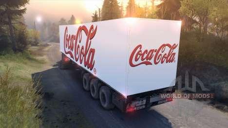Semi-Coca-Cola für Spin Tires