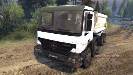 Mercedes-Benz Actros Tipper pour Spin Tires