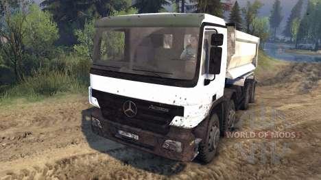 Mercedes-Benz Actros Tipper pour Spin Tires