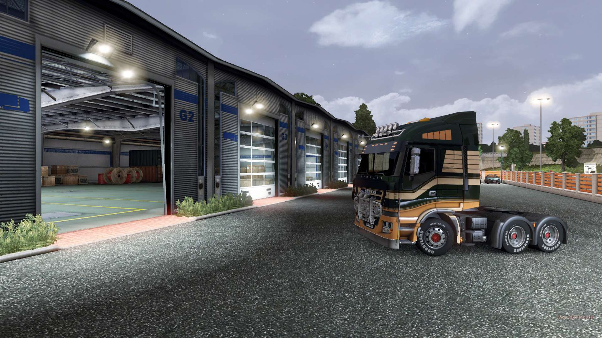 auparavant ouverture de porte de garage pour euro truck simulator 2. Black Bedroom Furniture Sets. Home Design Ideas