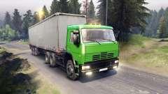 KamAZ-6522 in grüner Farbe