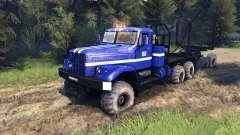 KrAZ-255B in der Farbe blau-KrAZ-Power-8-
