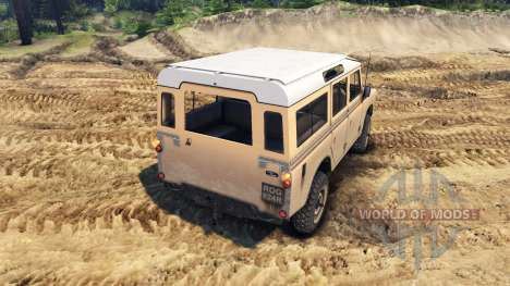 Land Rover Defender Sand pour Spin Tires