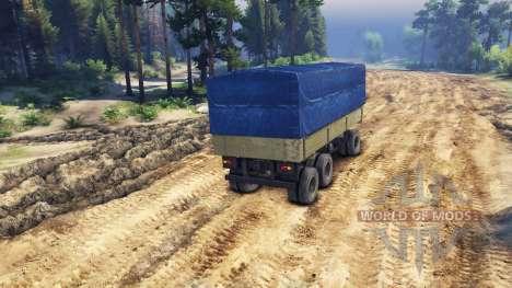 Zelt-Anhänger für ZIL-133 G1 und ZIL-133 GA für Spin Tires